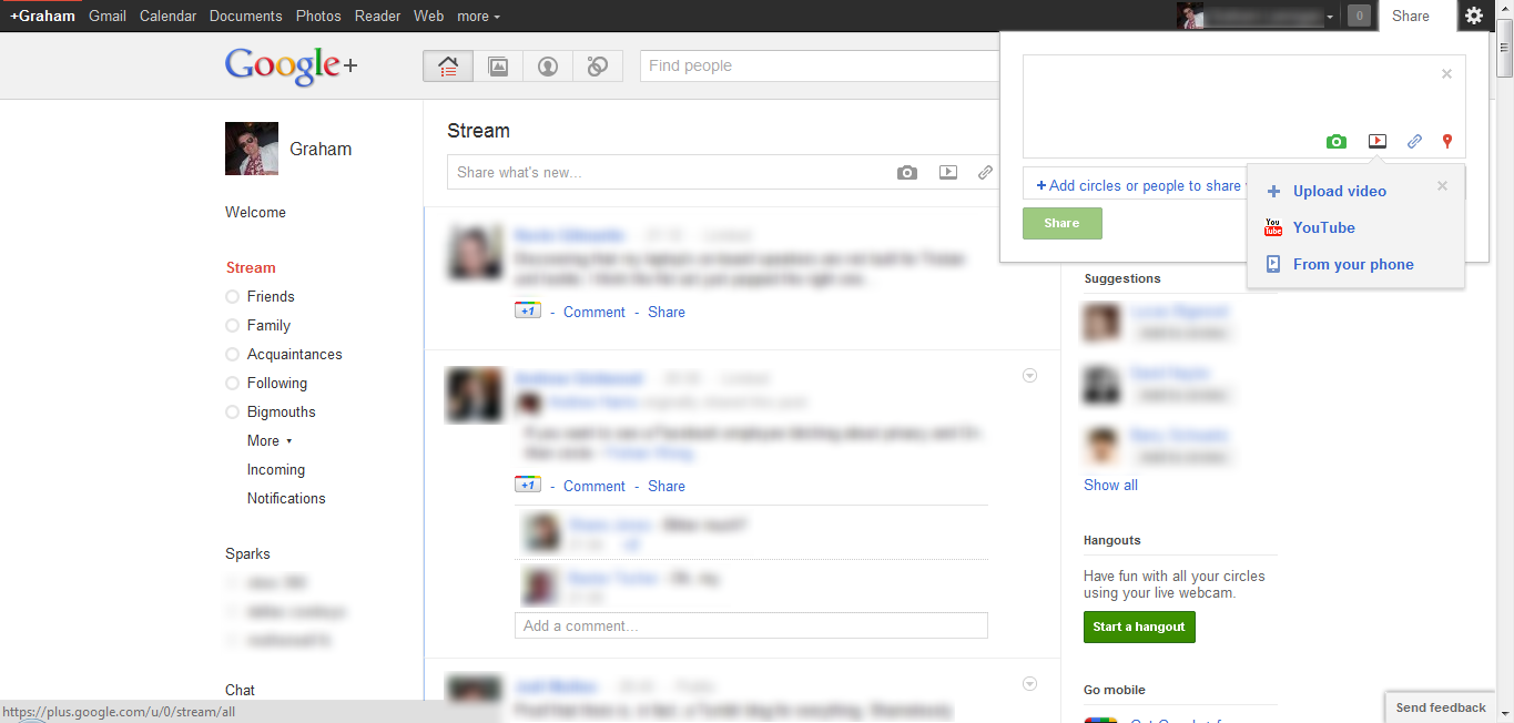 Google+ versus Facebook: First impressions